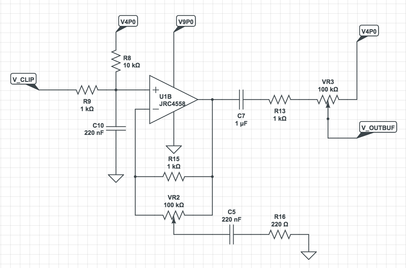 tone amplifier and volume pot