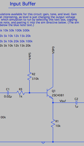 LTSpice simulations of guitar pedals